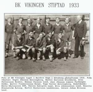 BK Vikingen stiftad 1933